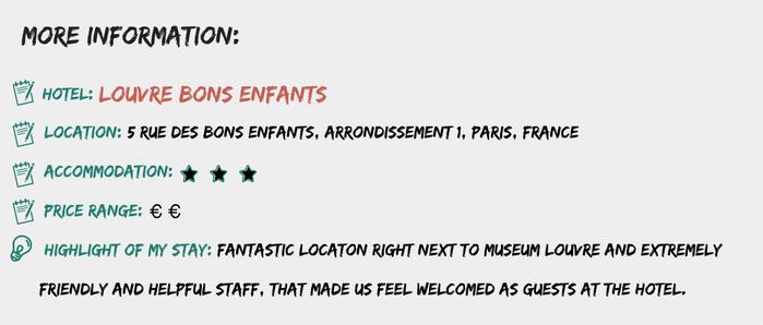 More information Hotel Louvre Bons Enfants