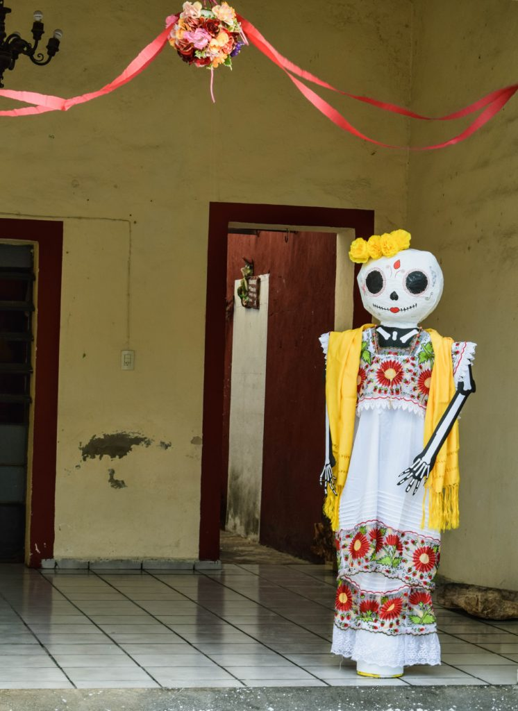 The Day of the Dead Decoration in Merida, Mexico