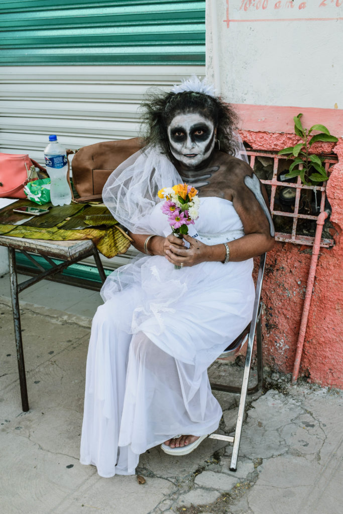 The Day of the Dead bride costume