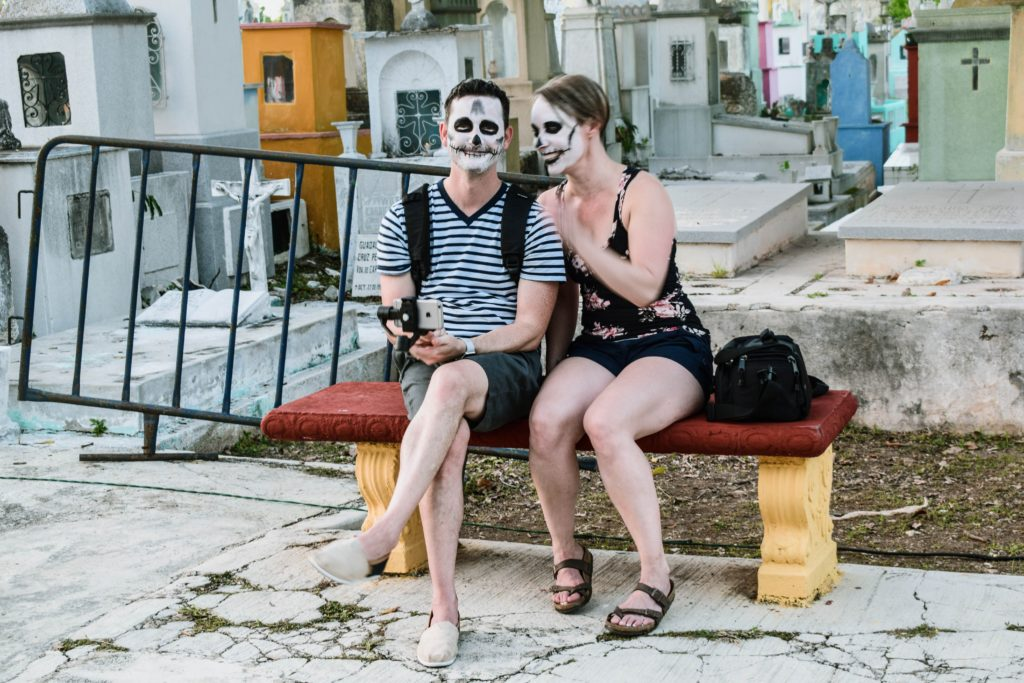 The Day of the Dead masks