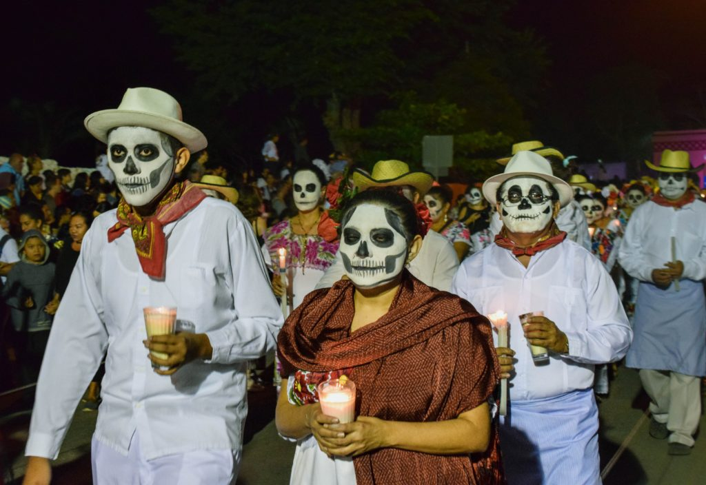 The Day of the Dead parade in Merida, Mexico