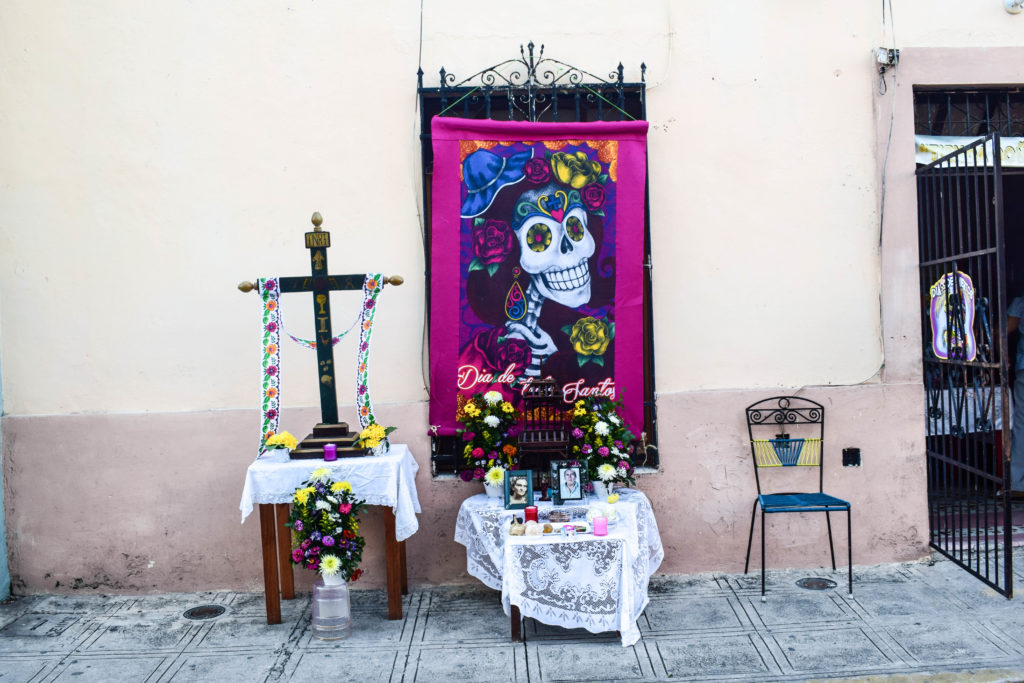 Day of the Dead altar in Merida, Mexico