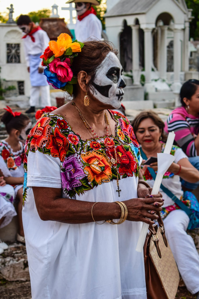 Skull mask from Day of the Dead in Merida, Mexico
