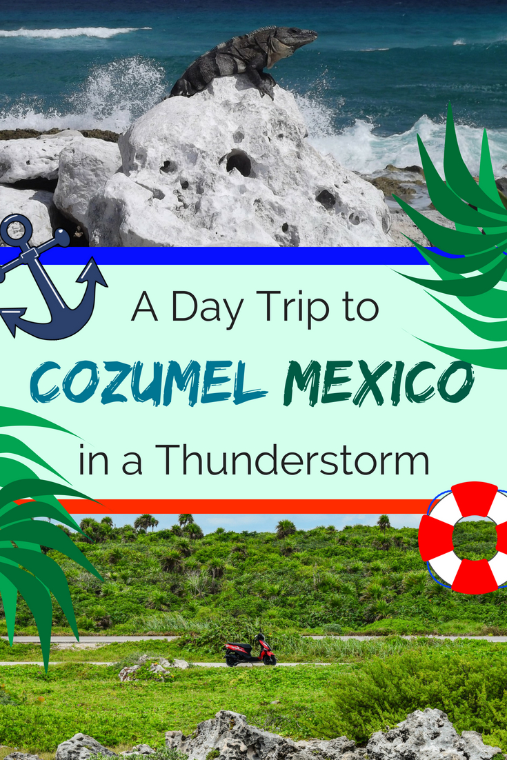 A Day Trip to Cozumel Mexico in a Thunderstorm. Discover this awesome Mexican island Cozumel, things to do in Cozumel, best Cozumel excursions and sports to visit, how to get to Cozumel from Playa del Carmen, renting a scooter in Cozumel, snorkeling and beaches in Cozumel and much more. #cozumel #Mexico