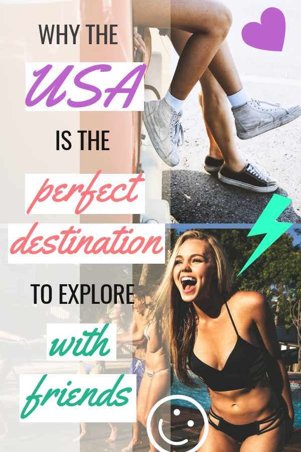 Do you know why the USA is the perfect destination to explore with friends? It has to do something with awesome American road trips from the East Coast to West Coast, spring break in California, bucket list destination New York. And these are just some of the parts of it. #travel #usa #roadtrip