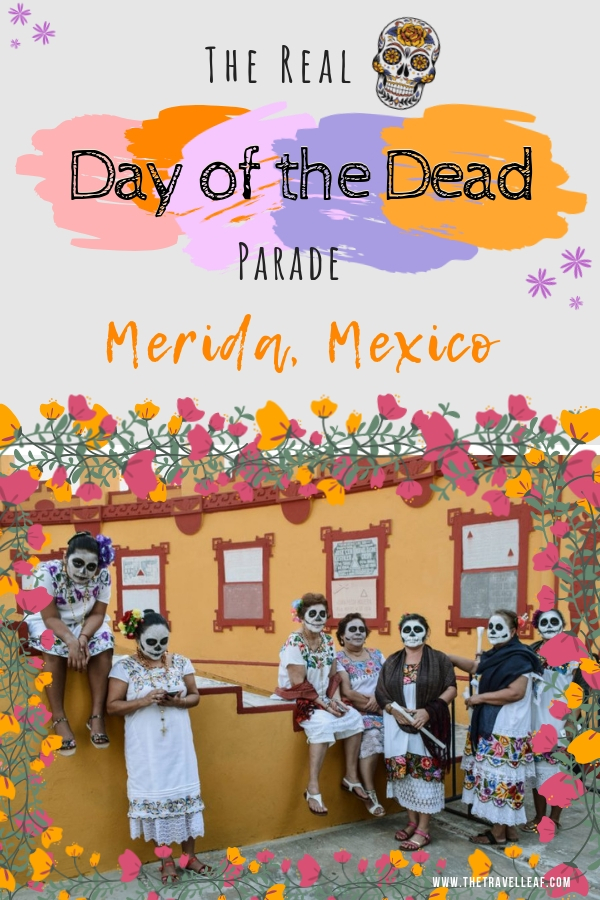 Find out what it's like to be inside the grandiose skull maks parade celebrating Day of the Dead in Merida Mexico. Participating in the Mexican tradition of Dia de Los Muertos is one of the best things to do in Mexico. #travel #Mexico