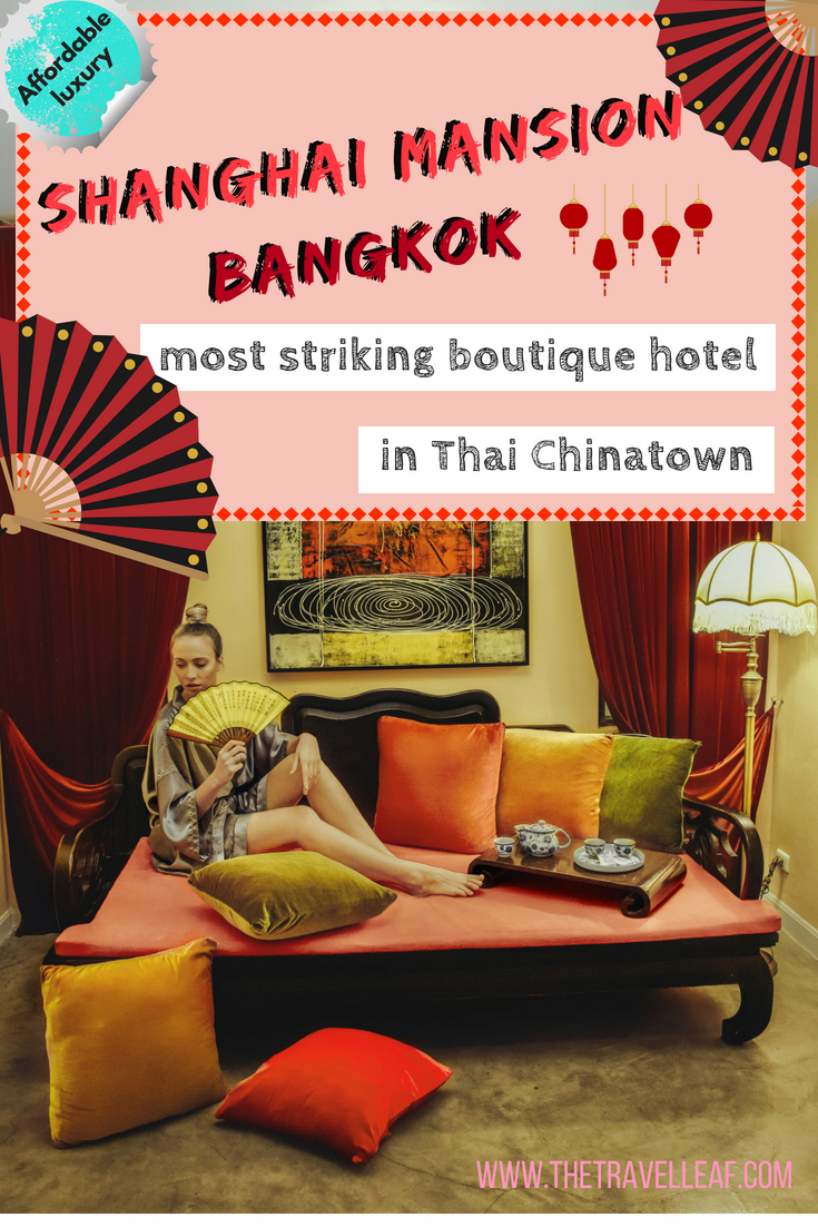 Shanghai Mansion Bangkok: most striking boutique hotel in Thai Chinatown. Discover the best boutique hotel where to stay in Bangkok Chinatown. It offers a great balance of affordable luxury and so many awesome things to do in Bangkok just nearby. #Bangkok #Thailand #Chinatown #boutiquehotel