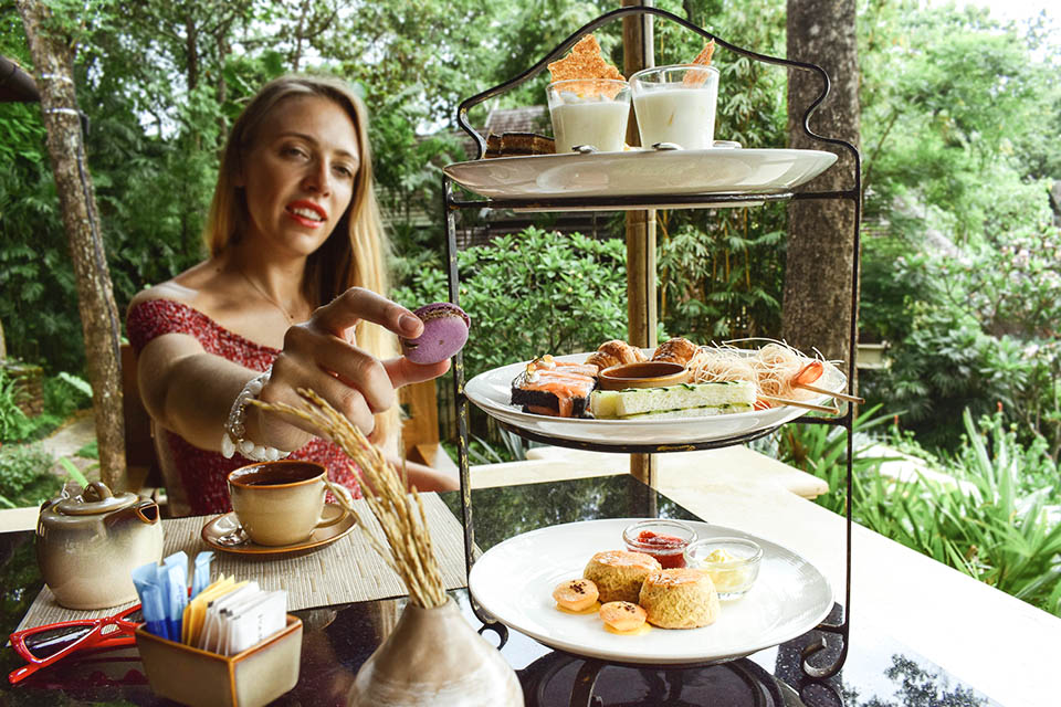 Chic relaxation at the Afternoon Tea at Four Season Chiang Mai, Thailand