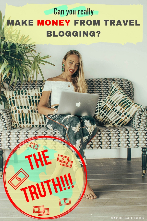 The hot question is - can you really make money from travel blogging? Here's your answer from a full-time travel blogger who turned their blog into a successful online business. #travelblog #travel #makemoneyonline