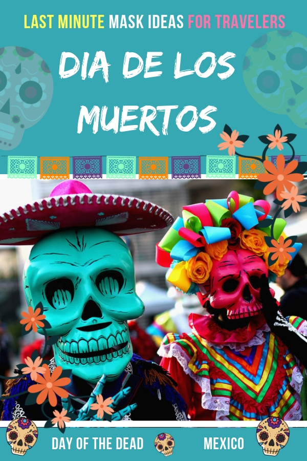 Traveling to Mexico for Dia de Los Muertos or the Day of the Dead parade? Find here the coolest last minute Dia de Los Muertos Masquerade Masks that can work for you later as Halloween masks just as good. #Mexico #Travel #mask #dayofthedead #parade
