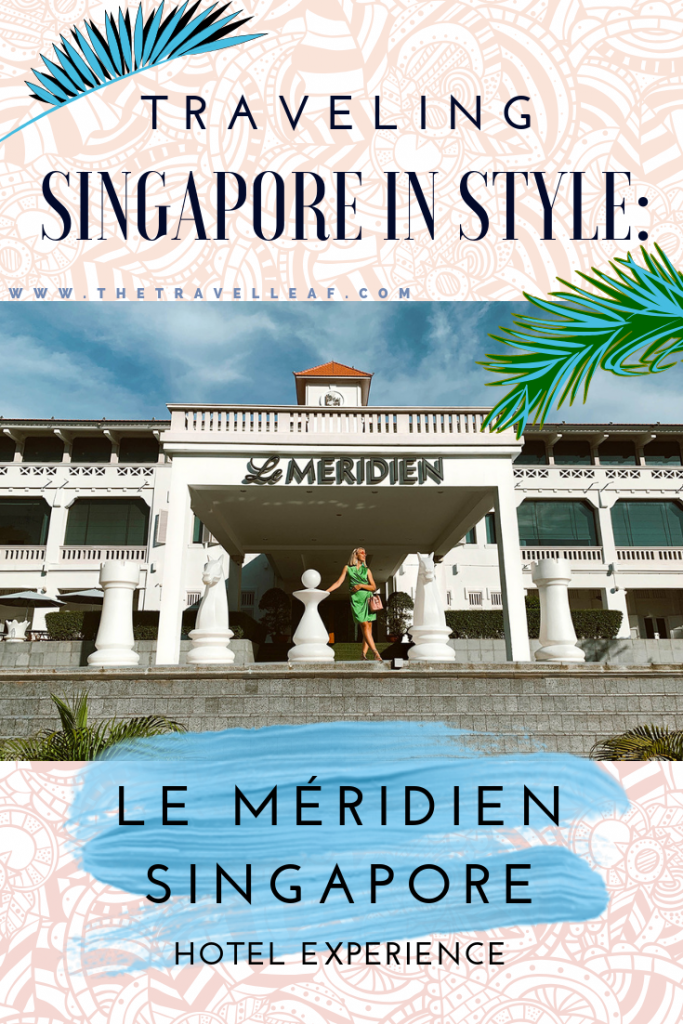 "Where to stay in Singapore? If you're into traveling in style, Le Meridien Singapore, Sentosa might just be it! This ""Crazy Rich Asians on vacation in the Hamptons"" vibe hotel is a Sentosa luxury at mid-range prices. Check out our experience here! #singapore #sentosa #hotel"