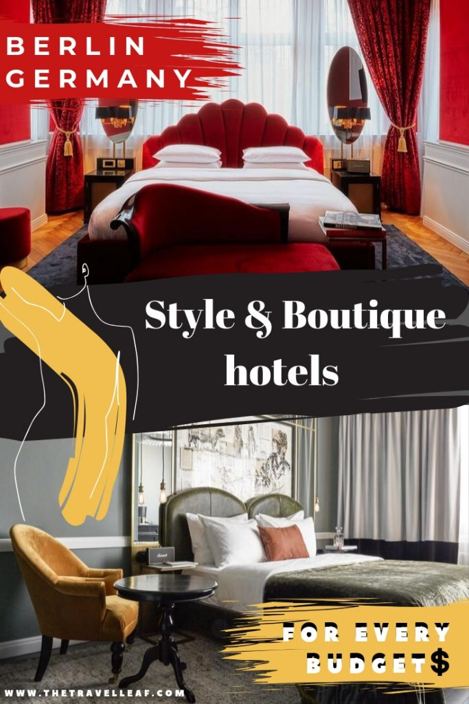 Where to stay in Berlin Germany: style & boutique hotels for any budget. Discover cool hotel experiences all over Berlin if you love to travel in style just like we do. #berlin #hotel #boutique #travel