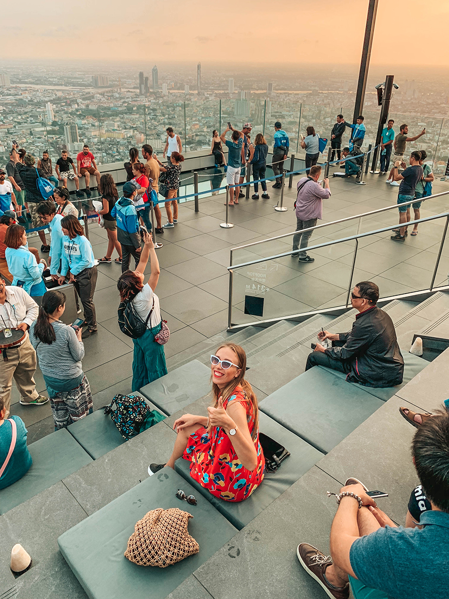 King Power Mahanakhon Skywalk: watching Bangkok's skyline at sunset